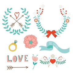 Love laurels vector