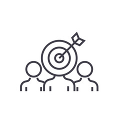 Marketing audience engagement line icon vector