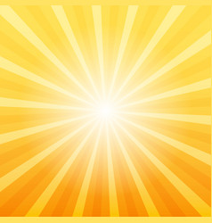 Orange sunray background vector