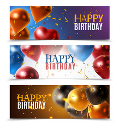 Realistic glossy banners vector