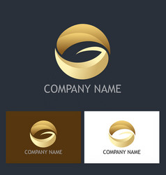 round letter g gold company logo vector image