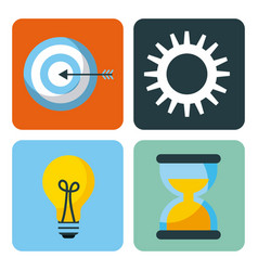 set of business element app design vector image