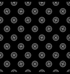 sewing pattern with buttons vector image vector image