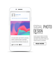 social photo frame mobile app vector image