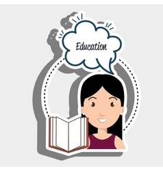 Student woman eduaction speech vector