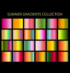 Summer colors gradients collection for any kind of vector