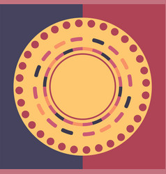 Technology colorful round background abstract vector