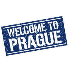 Welcome to prague stamp vector