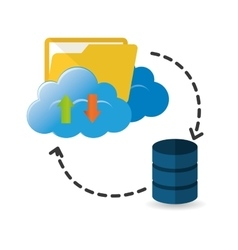 Cloud computing file web hosting design vector