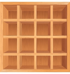Wooden shelves background vector