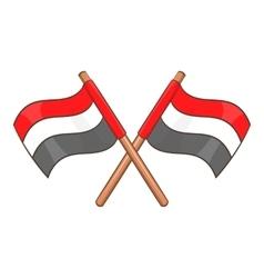 Egypt flags icon cartoon style vector