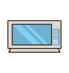 Cartoon microwave domestic appliance vector