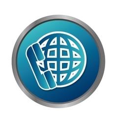 Phone service button icon vector