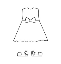 Silhouette with female clothing pijama dress vector
