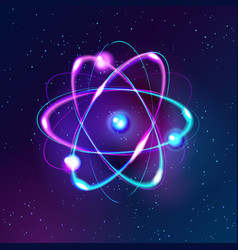 Blue shining atom abstract technology dark vector