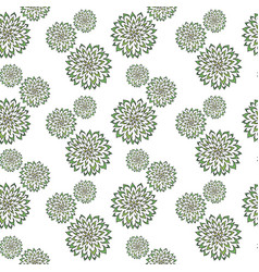 abstract pattern with hand drawn green vector image