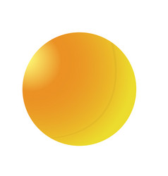 Isolated ping pong ball vector