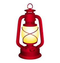 Red lantern vector