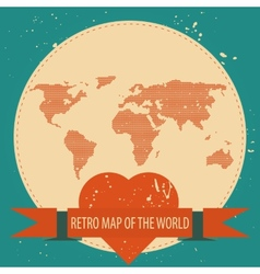 Love the world vector