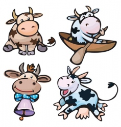 cute cows vector image