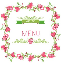 Square menu design vector