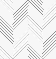 Monochrome pattern with gray chevron lines vector