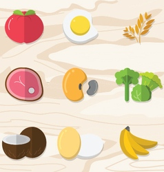 Fruits and vegetables preview vector