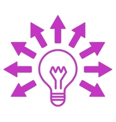 Electric light icon vector