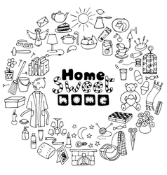 Hand drawn Home set vector image