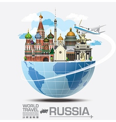 Russia landmark global travel and journey vector