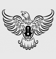 Eagle ornament vector