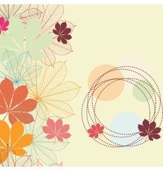 Seamless background with falling autumn leaves in vector image