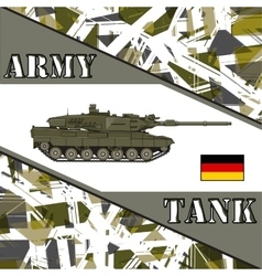 Military tank german army armur vehicles vector