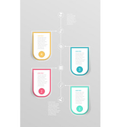 abstract vertical timeline infographic element vector image vector image