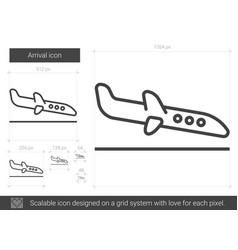 arrival line icon vector image