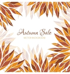 Autumn sale flyer vector