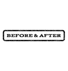 Before after watermark stamp vector