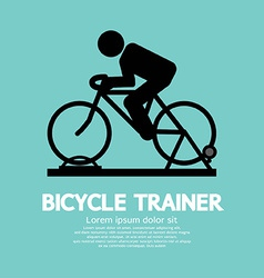 Bicycle trainer vector
