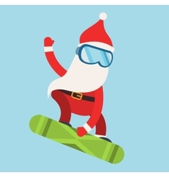 Cartoon extreme santa snowboarder winter sport vector