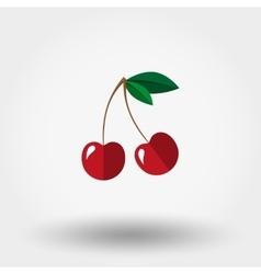 Cherry icon Flat vector image vector image