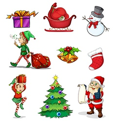 Christmas signs vector image