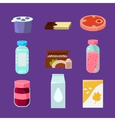 Common goods and everyday products in flat style vector