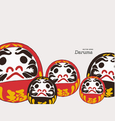 daruma doll is a talisman for japanese sketch vector image vector image