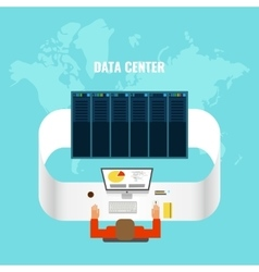 Data Center Composition vector image