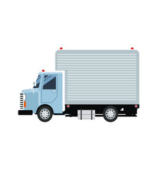 Delivery service shipping truck van of rides vector