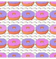 donuts seamless pattern Doodle birthday vector image vector image