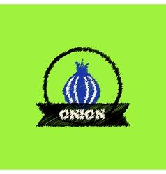 Flat icon design collection onion emblem vector