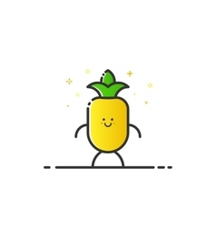 funny pineapple character vector image