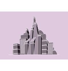 futuristic city vector image