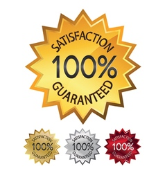 guaranteed seals set vector image